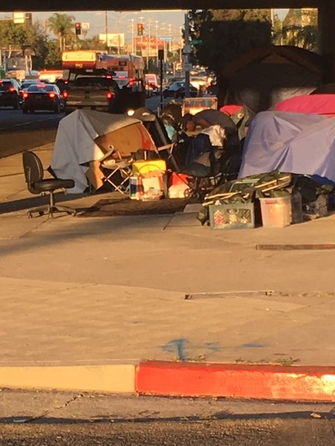 Permanent Tent City Under the 405-Overpass