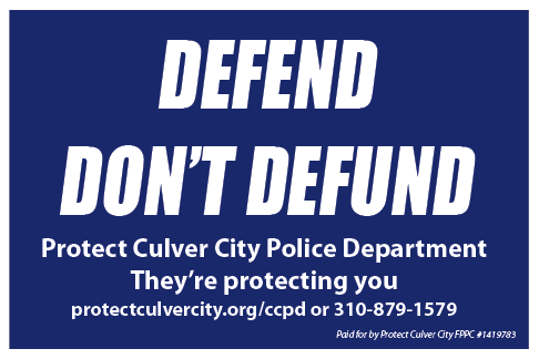 Defend CCPD Yard Sign